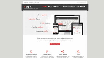 WordPress主题模板 响应式互联网科技公司 宽屏幻灯